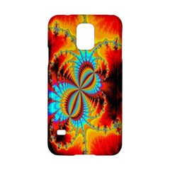 Crazy Mandelbrot Fractal Red Yellow Turquoise Samsung Galaxy S5 Hardshell Case