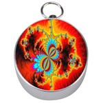 Crazy Mandelbrot Fractal Red Yellow Turquoise Silver Compasses Front