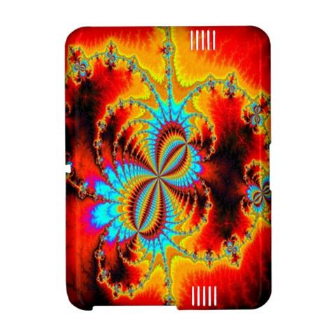 Crazy Mandelbrot Fractal Red Yellow Turquoise Amazon Kindle Fire (2012) Hardshell Case