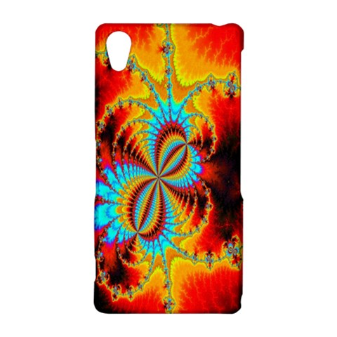 Crazy Mandelbrot Fractal Red Yellow Turquoise Sony Xperia Z2