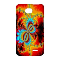 Crazy Mandelbrot Fractal Red Yellow Turquoise LG Optimus L70