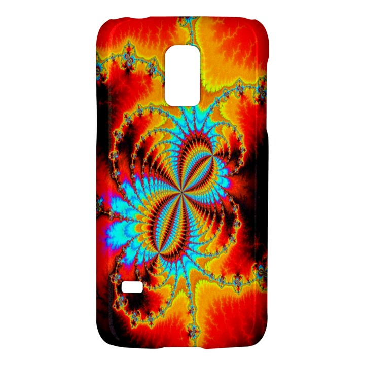 Crazy Mandelbrot Fractal Red Yellow Turquoise Galaxy S5 Mini