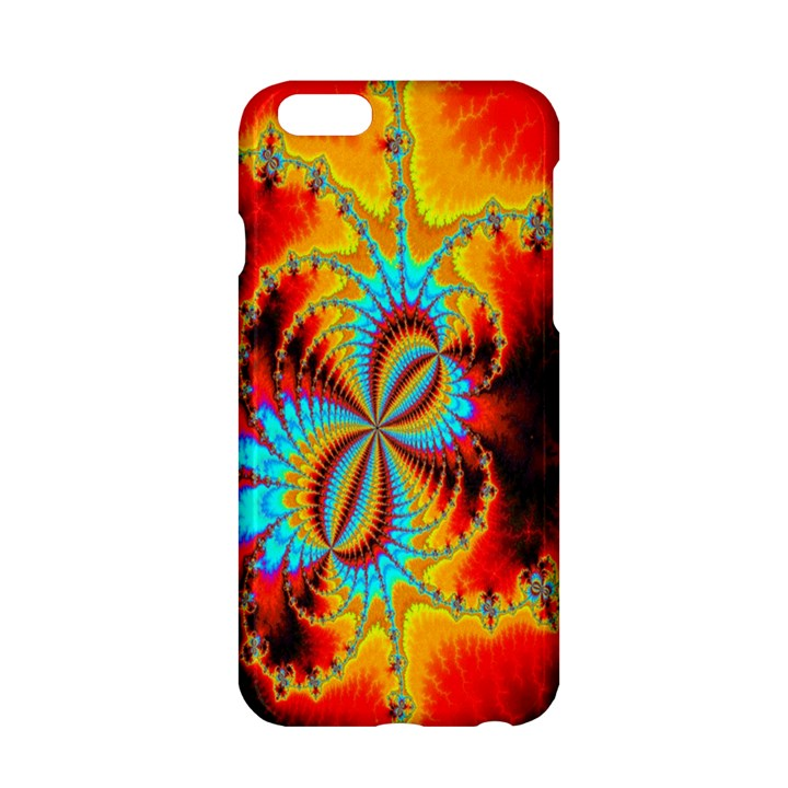Crazy Mandelbrot Fractal Red Yellow Turquoise Apple iPhone 6/6S Hardshell Case