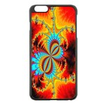 Crazy Mandelbrot Fractal Red Yellow Turquoise Apple iPhone 6 Plus/6S Plus Black Enamel Case Front