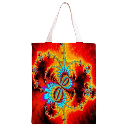 Crazy Mandelbrot Fractal Red Yellow Turquoise Classic Light Tote Bag