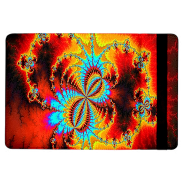 Crazy Mandelbrot Fractal Red Yellow Turquoise iPad Air 2 Flip