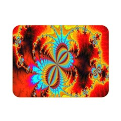Crazy Mandelbrot Fractal Red Yellow Turquoise Double Sided Flano Blanket (Mini)