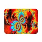 Crazy Mandelbrot Fractal Red Yellow Turquoise Double Sided Flano Blanket (Mini)  35 x27 Blanket Back