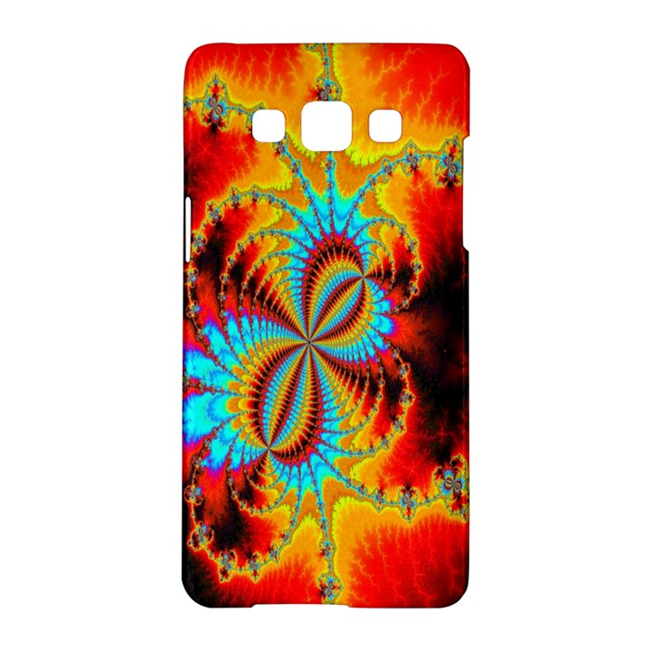 Crazy Mandelbrot Fractal Red Yellow Turquoise Samsung Galaxy A5 Hardshell Case
