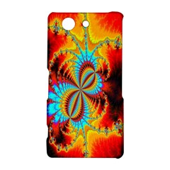 Crazy Mandelbrot Fractal Red Yellow Turquoise Sony Xperia Z3 Compact