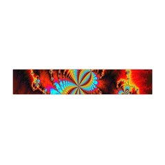 Crazy Mandelbrot Fractal Red Yellow Turquoise Flano Scarf (Mini)