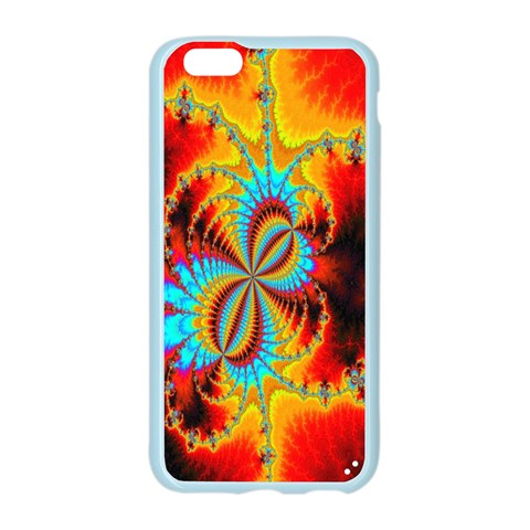 Crazy Mandelbrot Fractal Red Yellow Turquoise Apple Seamless iPhone 6/6S Case (Color)