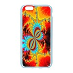 Crazy Mandelbrot Fractal Red Yellow Turquoise Apple Seamless iPhone 6/6S Case (Color) Front