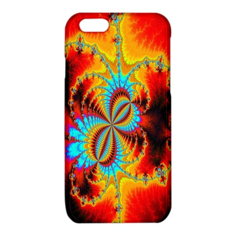 Crazy Mandelbrot Fractal Red Yellow Turquoise iPhone 6/6S TPU Case