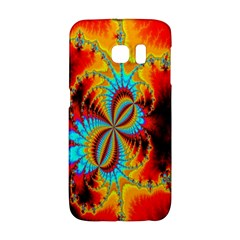 Crazy Mandelbrot Fractal Red Yellow Turquoise Galaxy S6 Edge
