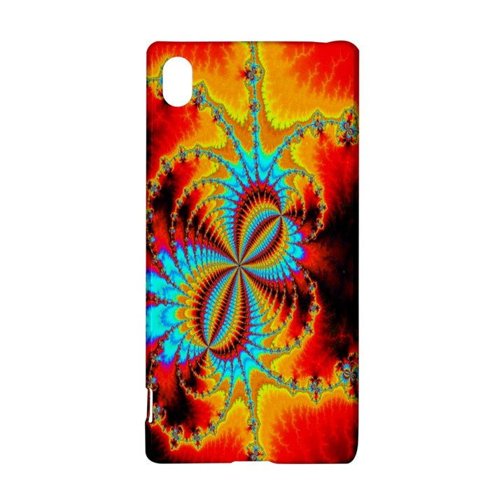 Crazy Mandelbrot Fractal Red Yellow Turquoise Sony Xperia Z3+