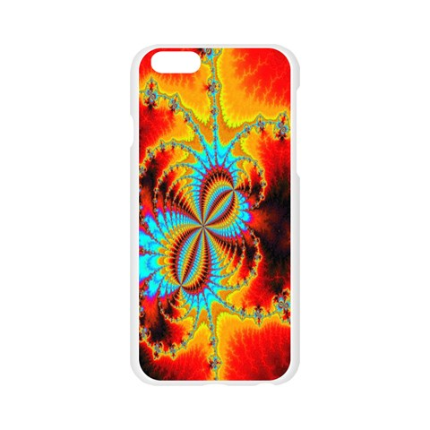 Crazy Mandelbrot Fractal Red Yellow Turquoise Apple Seamless iPhone 6/6S Case (Transparent)