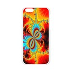 Crazy Mandelbrot Fractal Red Yellow Turquoise Apple Seamless iPhone 6/6S Case (Transparent) Front