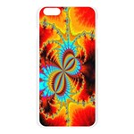 Crazy Mandelbrot Fractal Red Yellow Turquoise Apple Seamless iPhone 6 Plus/6S Plus Case (Transparent) Front