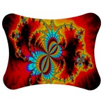 Crazy Mandelbrot Fractal Red Yellow Turquoise Jigsaw Puzzle Photo Stand (Bow) Front