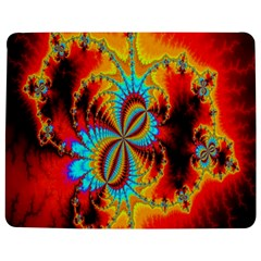 Crazy Mandelbrot Fractal Red Yellow Turquoise Jigsaw Puzzle Photo Stand (Rectangular)
