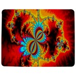 Crazy Mandelbrot Fractal Red Yellow Turquoise Jigsaw Puzzle Photo Stand (Rectangular) Front