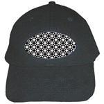 Modern Dots In Squares Mosaic Black White Black Cap Front