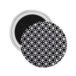 Modern Dots In Squares Mosaic Black White 2.25  Magnets Front