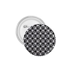 Modern Dots In Squares Mosaic Black White 1 75  Buttons
