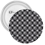 Modern Dots In Squares Mosaic Black White 3  Buttons Front