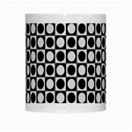 Modern Dots In Squares Mosaic Black White White Mugs Center