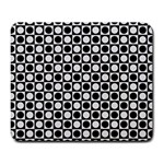 Modern Dots In Squares Mosaic Black White Large Mousepads Front
