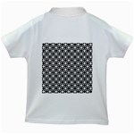 Modern Dots In Squares Mosaic Black White Kids White T-Shirts Back