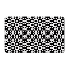 Modern Dots In Squares Mosaic Black White Magnet (rectangular)