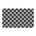 Modern Dots In Squares Mosaic Black White Magnet (Rectangular) Front