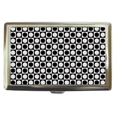 Modern Dots In Squares Mosaic Black White Cigarette Money Cases