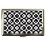Modern Dots In Squares Mosaic Black White Cigarette Money Cases Front