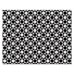Modern Dots In Squares Mosaic Black White Rectangular Jigsaw Puzzl Front