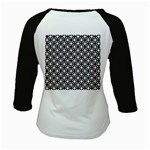 Modern Dots In Squares Mosaic Black White Kids Baseball Jerseys Back