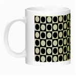 Modern Dots In Squares Mosaic Black White Night Luminous Mugs Left