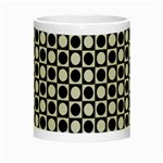 Modern Dots In Squares Mosaic Black White Night Luminous Mugs Center
