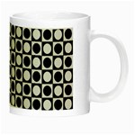 Modern Dots In Squares Mosaic Black White Night Luminous Mugs Right