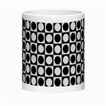 Modern Dots In Squares Mosaic Black White Morph Mugs Center