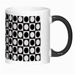 Modern Dots In Squares Mosaic Black White Morph Mugs Right