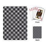 Modern Dots In Squares Mosaic Black White Playing Card Back