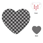 Modern Dots In Squares Mosaic Black White Playing Cards (Heart)  Front