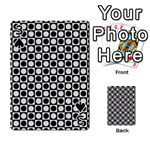 Modern Dots In Squares Mosaic Black White Playing Cards 54 Designs  Front - Spade3