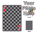 Modern Dots In Squares Mosaic Black White Playing Cards 54 Designs  Front - Heart7