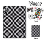 Modern Dots In Squares Mosaic Black White Playing Cards 54 Designs  Front - Spade4