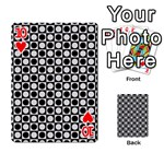 Modern Dots In Squares Mosaic Black White Playing Cards 54 Designs  Front - Heart10